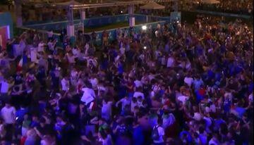 ویدیو  شادی هواداران ایتالیا در رم پس از صعود به فینال