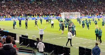 ویدیو  شادی صعود ایتالیاییها به فینال یورو ۲۰۲۰ از زاویه دید تماشاگران