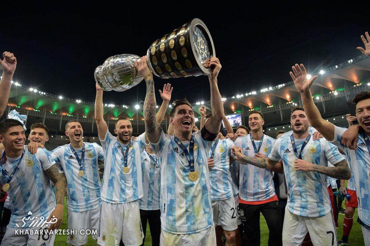 لیونل مسی؛ قهرمانی آرژانتین در کوپا آمریکا 2021