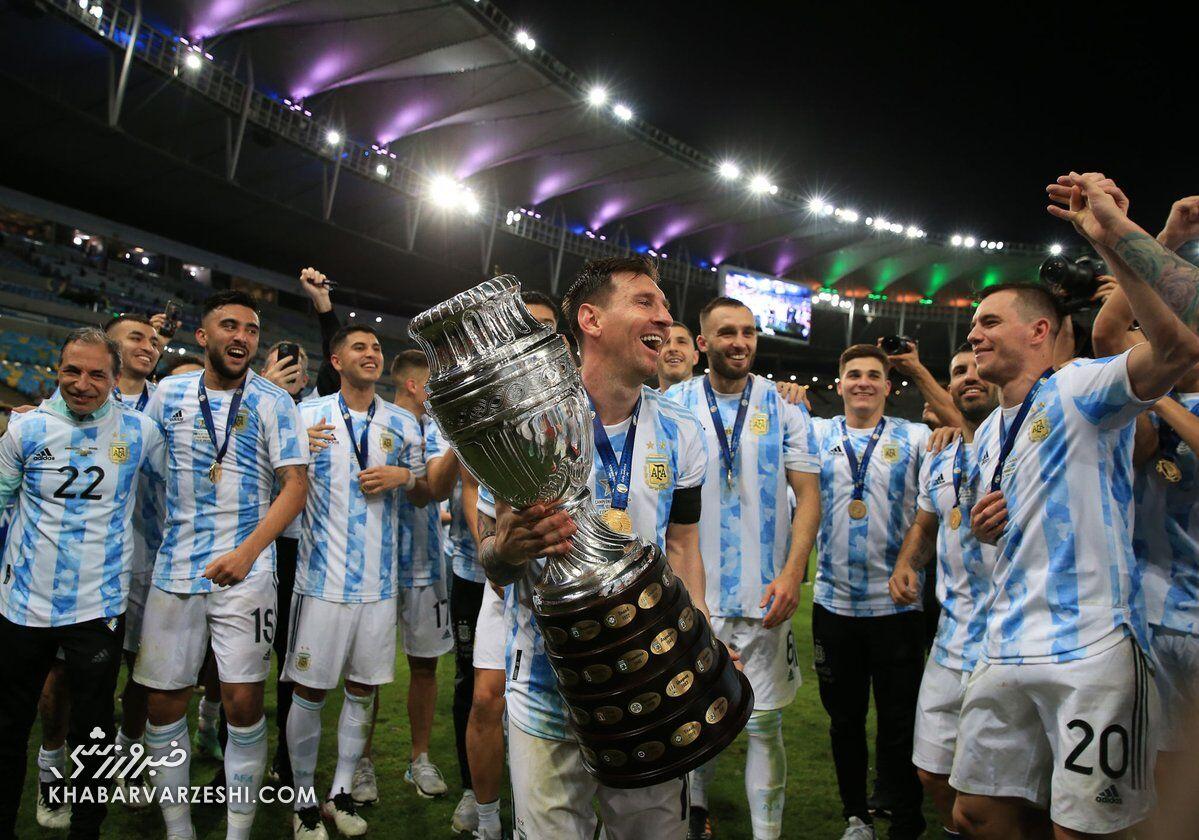 لیونل مسی؛ قهرمانی آرژانتین در کوپا آمریکا ۲۰۲۱