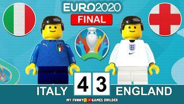 ویدیو  شبیه سازی دیدار ایتالیا و انگلیس در فینال یورو ۲۰۲۰