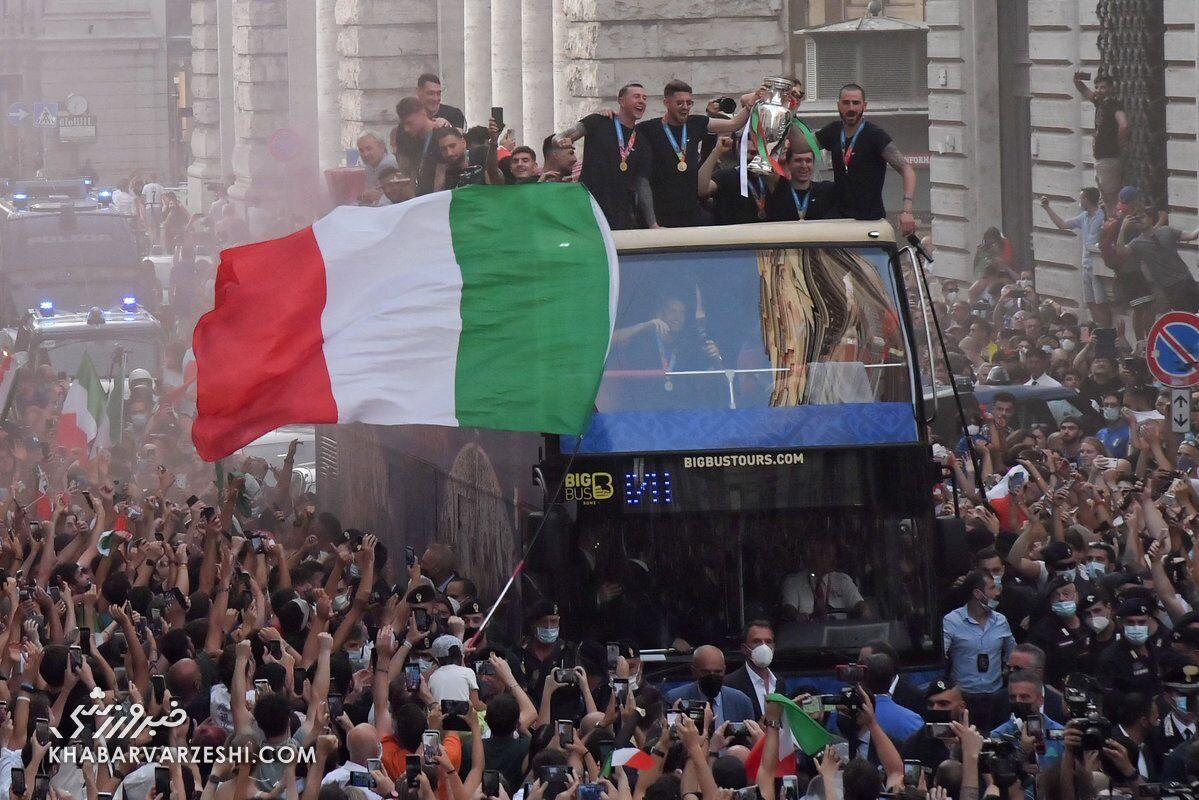 رژه قهرمانی ایتالیا در یورو 2020