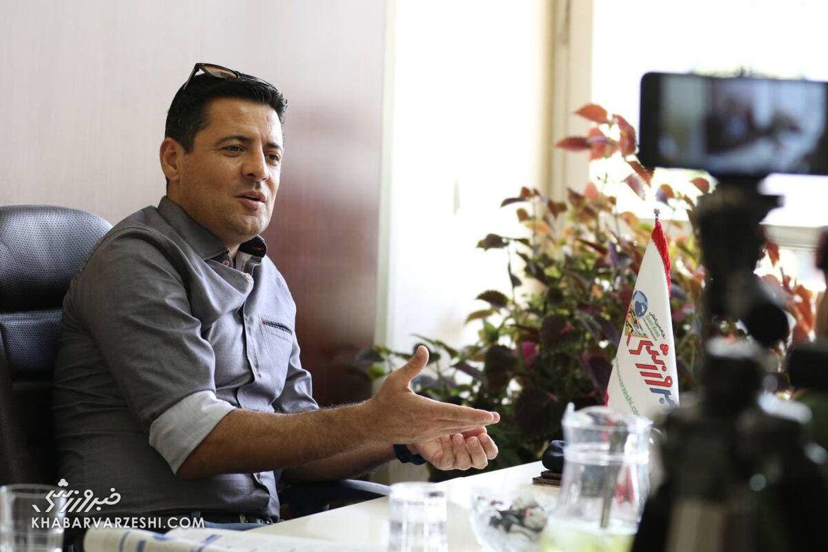 علیرضا فغانی در دفتر خبرورزشی