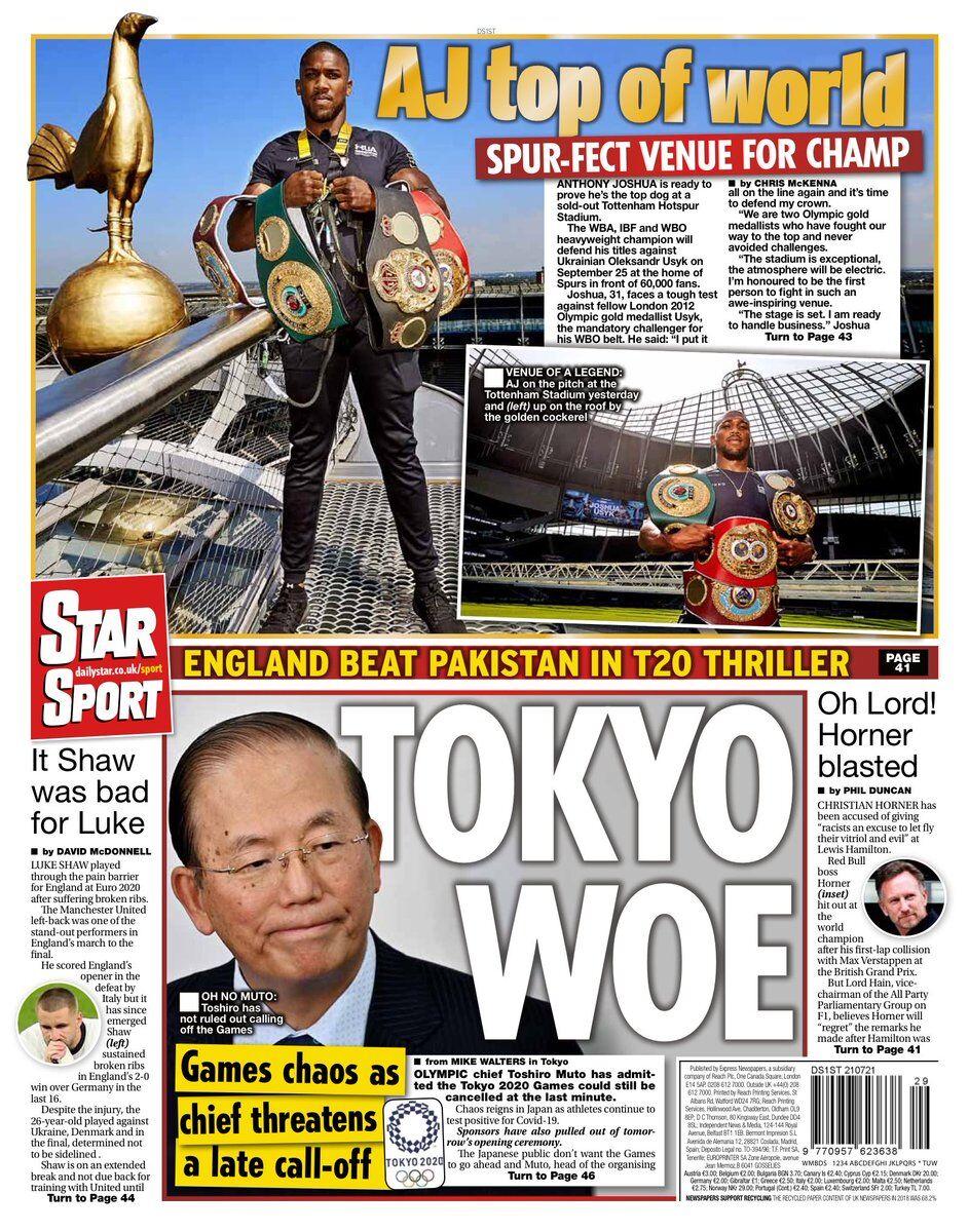 روزنامه استار  غصه توکیو