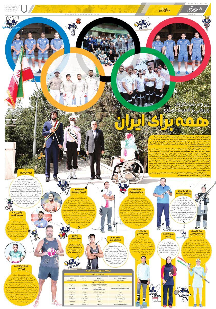 صفحه ویژه ایران در المپیک 2020 توکیو