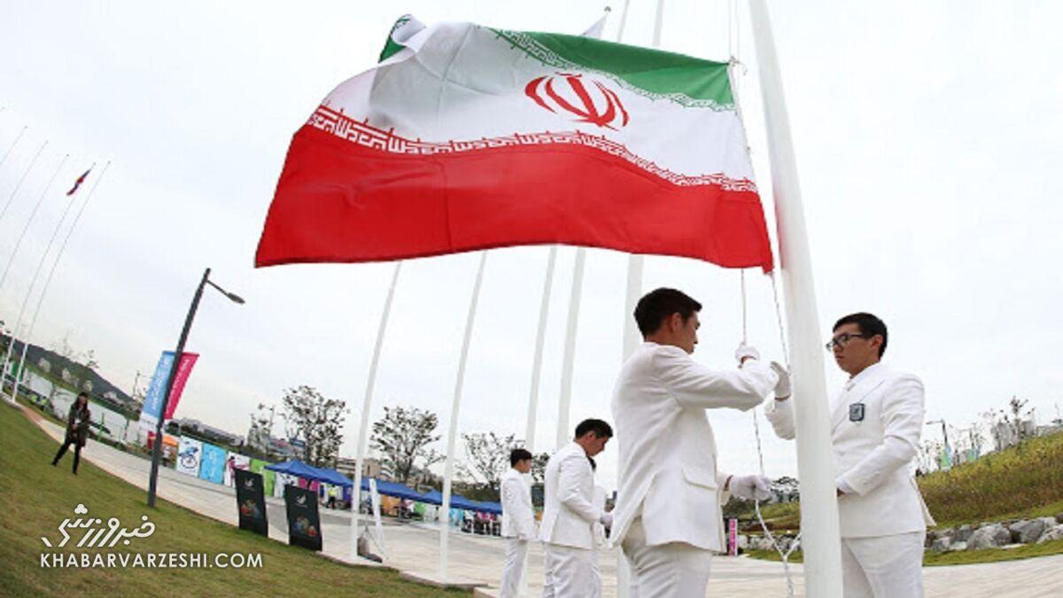 پرچم ایران در المپیک