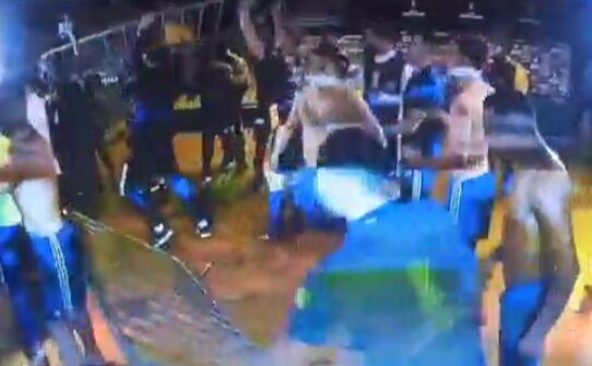 ویدیو| حمله به پلیس، پاسخ با گاز اشکآور!