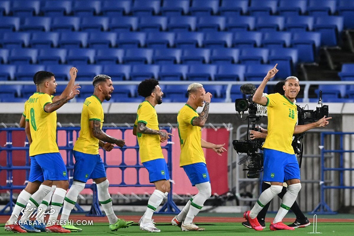 برزیل در نبردی جذاب آلمان را شکست داد