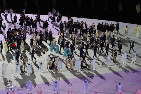 رژه ایران در مراسح افتتاحیه المپیک 2020 توکیو