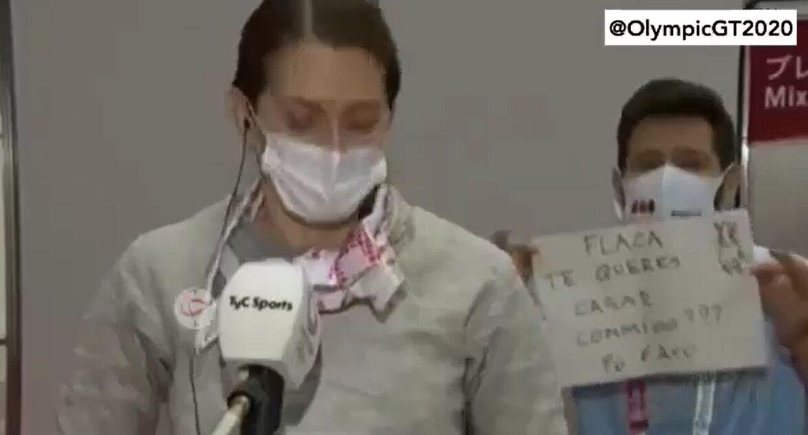 ویدیو  خواستگاری مربی از شاگردش در شمشیربازی المپیک توکیو