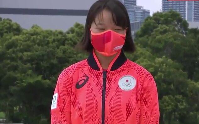 ویدیو| کسب مدال طلای المپیک توسط دختر ۱۳ ساله ژاپنی