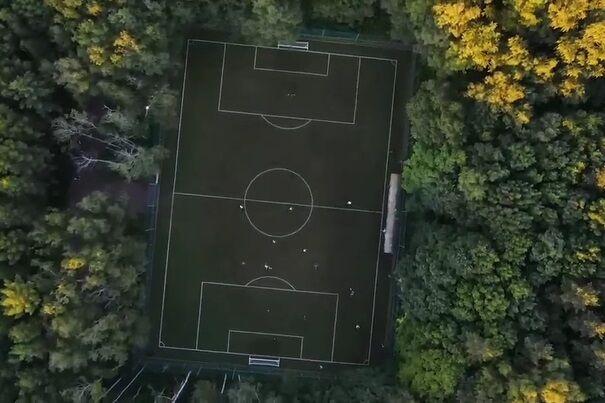 ویدیو| تصاویر هوایی از زمین فوتبال دیدنی