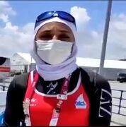 ویدیو  صعود نازنین ملایی به فینال با کسب مقام ششم در نیمه نهایی