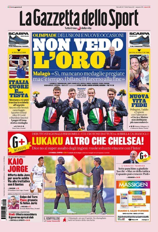 روزنامه گاتزتا  لوکاکو، برای چلسی زیادی است!