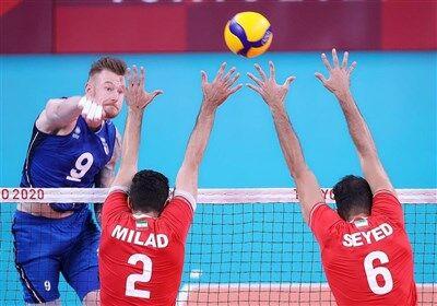 ویدیو| خلاصه والیبال ایتالیا ۳-۱ ایران