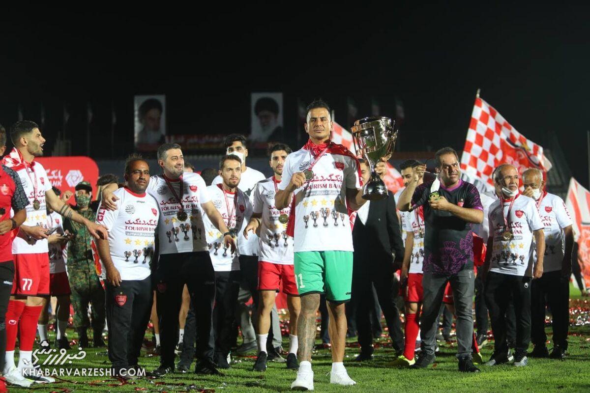 حامد لک؛ جشن قهرمانی پرسپولیس در لیگ بیستم