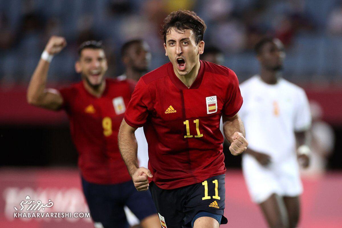 اسپانیا - ساحلعاج (المپیک 2020)