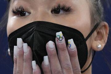 تصاویر جالب لاک ناخن زنان المپیکی؛ توجه ویژه به دختر ایرانی/ از طرحهای المپیکی تا پرچم کشورها