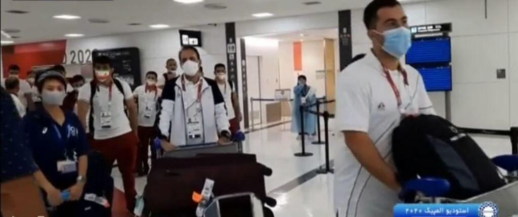 ویدیو  ورود تیم ملی کشتی و کاراته به توکیو