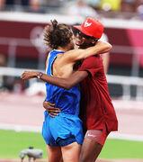 ویدیو| اتفاق بی سابقه در تاریخ المپیک؛ مدال طلای مشترک در پرش از ارتفاع