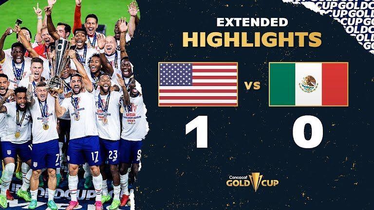 ویدیو| خلاصه مسابقه آمریکا ۱-۰ مکزیک (فینال جام طلایی کونکاکاف ۲۰۲۱)
