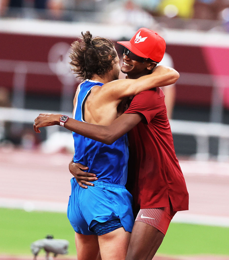ویدیو  اتفاق بی سابقه در تاریخ المپیک؛ مدال طلای مشترک در پرش از ارتفاع