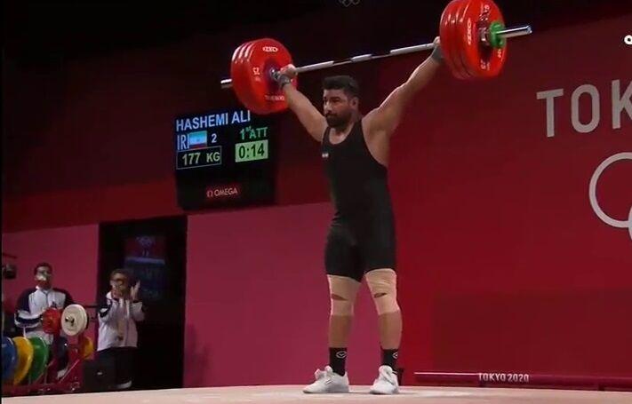 ویدیو  پایان کار یکضرب علی هاشمی با ۱۸۴ کیلو