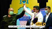 ویدیو  تجلیل و قدردانی از جواد فروغی در مراسم نیروهای مسلح