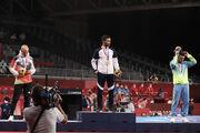 گزارش تصویری| دومین طلای ایران در المپیک ۲۰۲۰ بر گردن محمدرضا گرایی