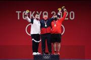 اولین مدال نقره ایران به وزنهبرداری رسید/ داوودی نایب قهرمان المپیک توکیو شد
