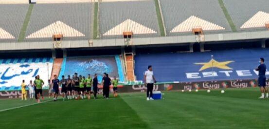 ویدیو  گرمکردن بازیکنان گل گهر پیش از آغاز بازی