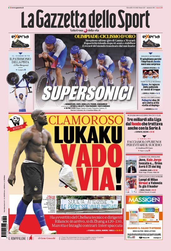 روزنامه گاتزتا| لوکاکو: من میروم
