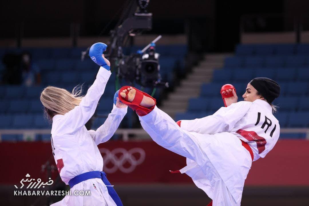 ویدیو| شاهکار ثانیه آخری سارا بهمنیار در کاراته المپیک