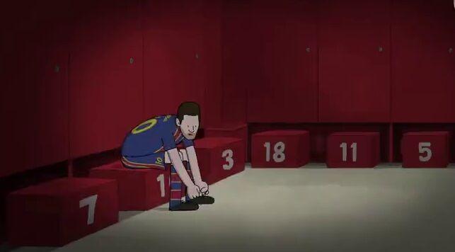 ویدیو| انیمیشن فوقالعاده «بلیچر ریپورت» بهبهانه جدایی ناگهانی لیونل مسی از بارسلونا