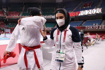 عکس  گریههای حمیده عباسعلی بعد از حذف شدن از المپیک