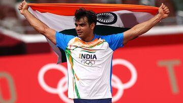 ویدیو  تاریخ سازی نیراج چوپرا با کسب اولین مدال طلا هند در دو و میدانی
