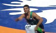 ویدیو| کسب مدال طلا توسط عرفان الهی در کشتی آزاد قهرمانی جهان