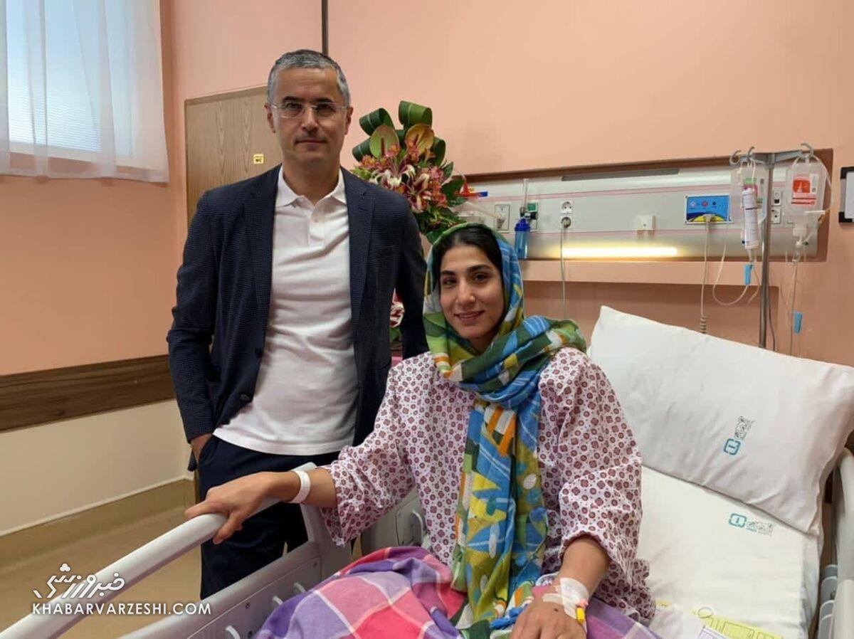 عکس| حمیده عباسعلی جراحی کرد
