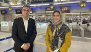 تصویری جالب از داور زن ایرانی که بازی فوتسال مردان را سوت زد
