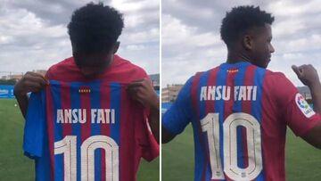 ویدیو  شماره ۱۰ بارسلونا به آنسو فاتی رسید
