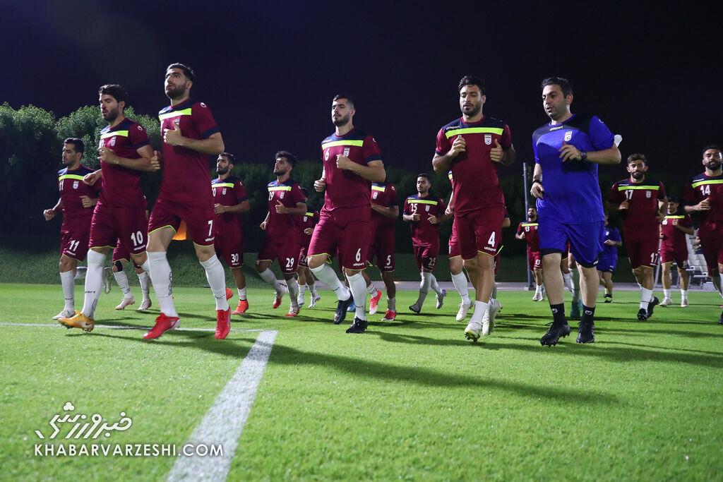 تمرین تیم ملی ایران در قطر (13 شهریور 1400)