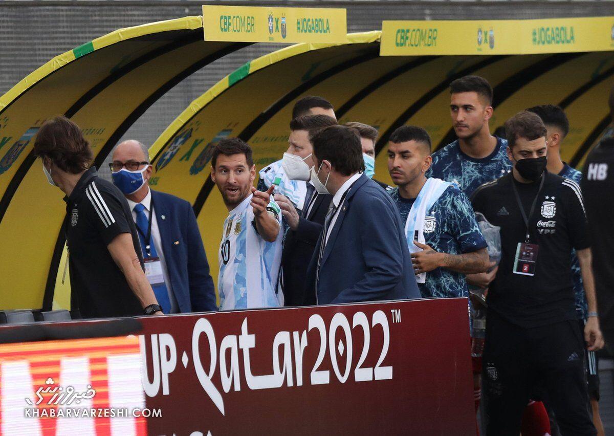 لیونل مسی؛ توقف بازی برزیل - آرژانتین