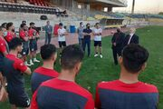 برگزاری آیین معارفه سرپرست جدید باشگاه پرسپولیس در حاشیه تمرین