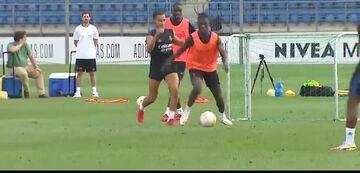 ویدیو  بازگشت ملی پوشها به تمرینات رئال مادرید