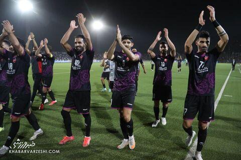 شادی بازیکنان پرسپولیس؛ استقلال تاجیکستان - پرسپولیس