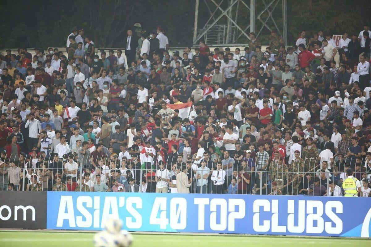 ویدیو| استادیوم تاجیکستان مملو از تماشاگر