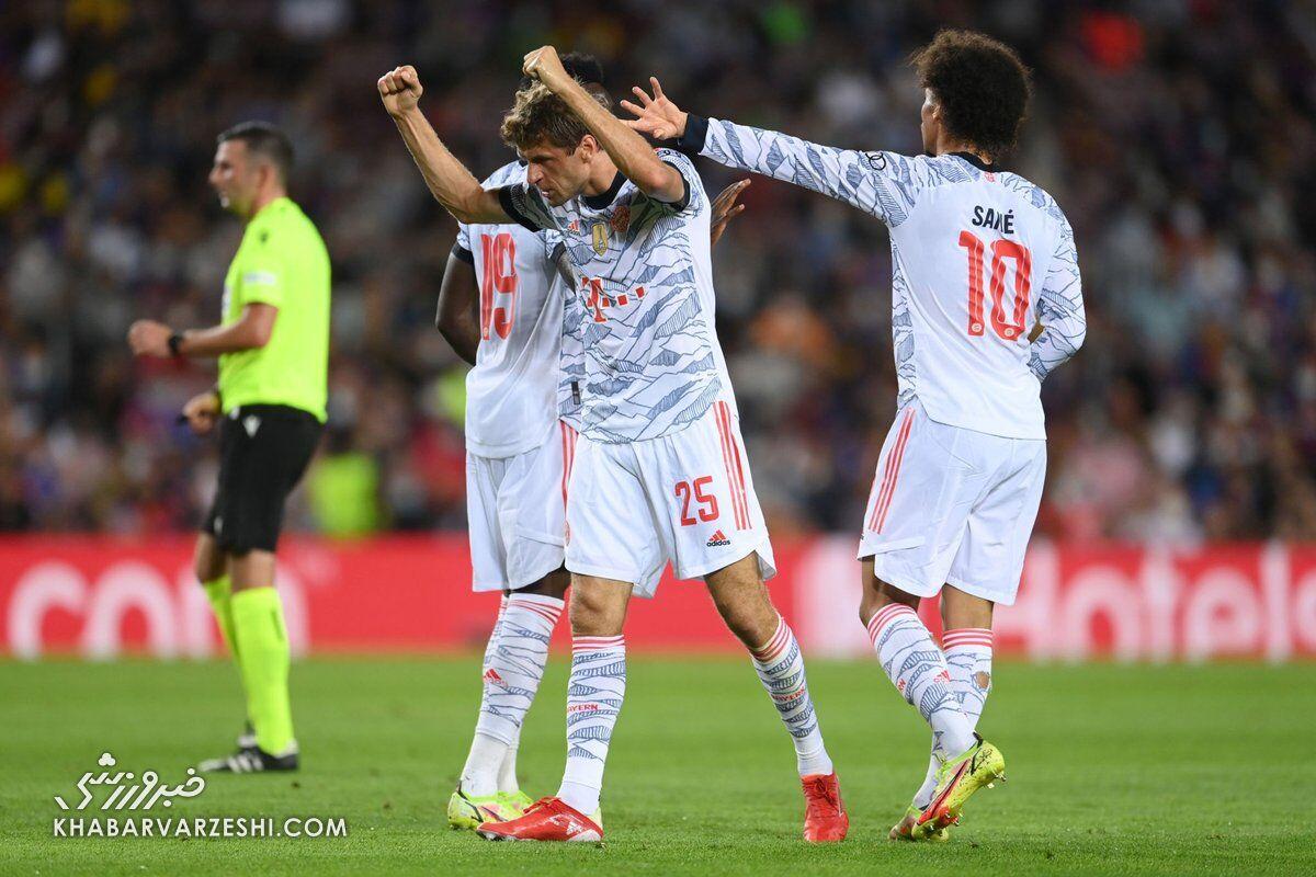 ویدیو  گل اول بایرن به بارسلونا توسط توماس مولر