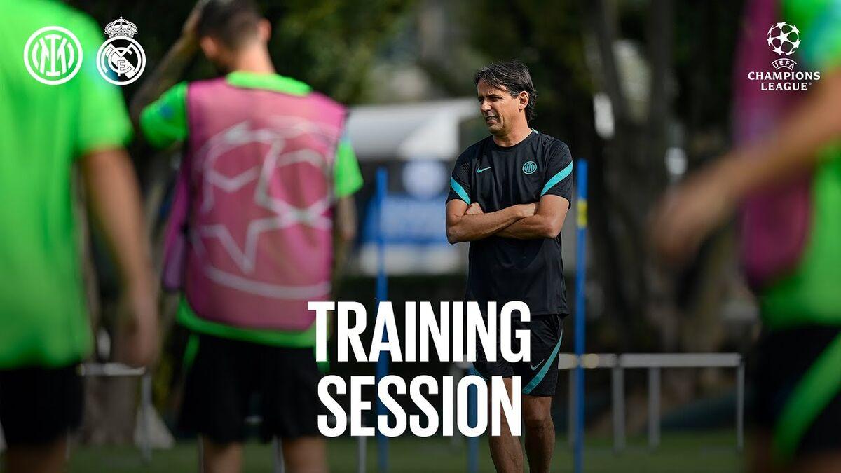 ویدیو| تمرینات آماده سازی اینتر پیش از دیدار برابر رئال مادرید
