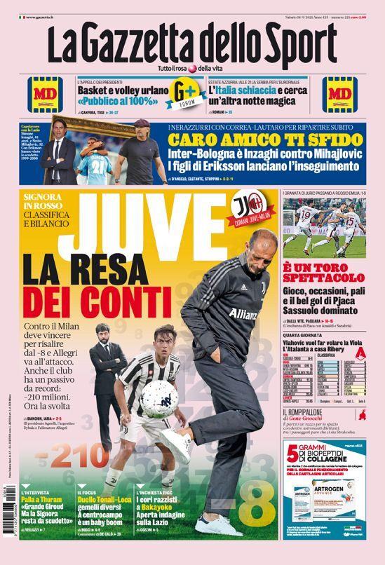 روزنامه گاتزتا| یووه به بازی برمیگردد