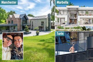 تصاویر خانههای جذاب رونالدو/ جذابترین عمارتها در مادرید، تورین و منچستر